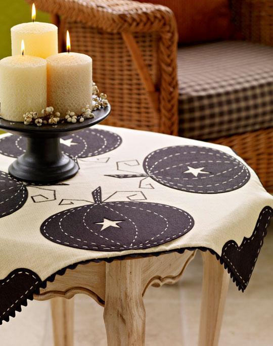 diy Tischdecke mit Kürbismotiven  für thanksgivingday