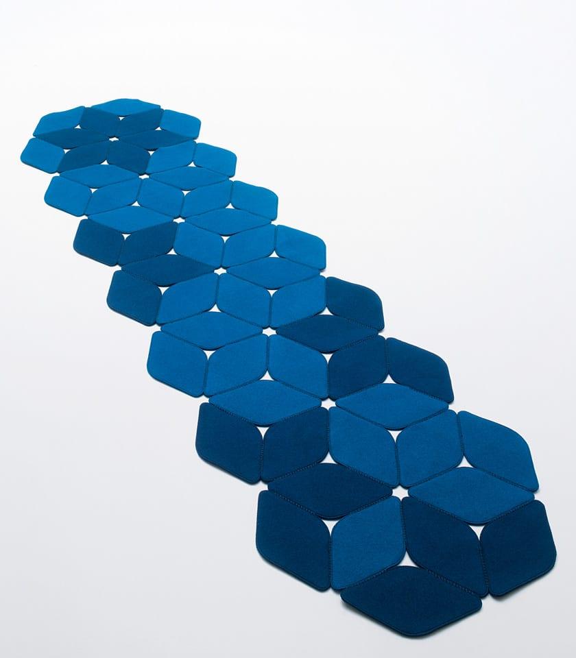 teppichläufer blau - modernes teppichdesign