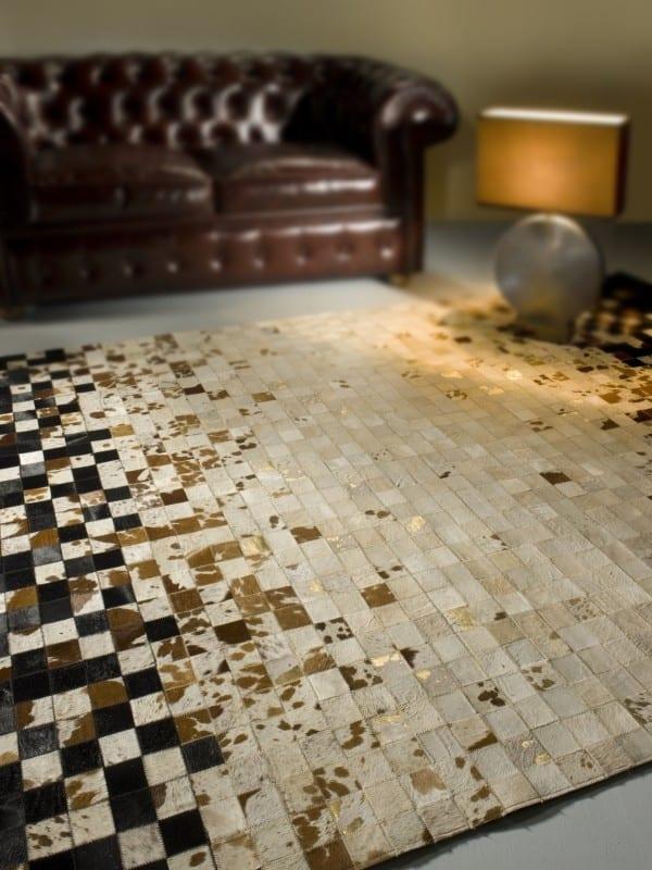 der moderne teppich aus teppichfliesen - teppich beige und schwarz