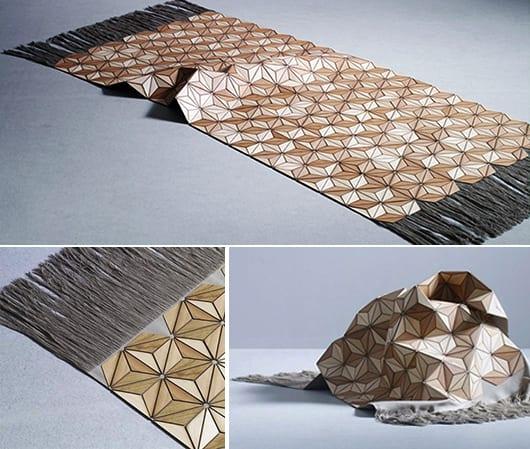 teppich aus holz-der moderne teppich