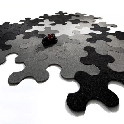 moderner puzzle teppich in grau