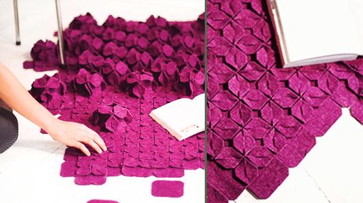 teppich violett - modern und innovativ-kreative bodenbeläge