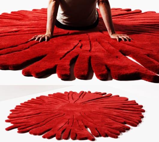 runder hochteppich rot