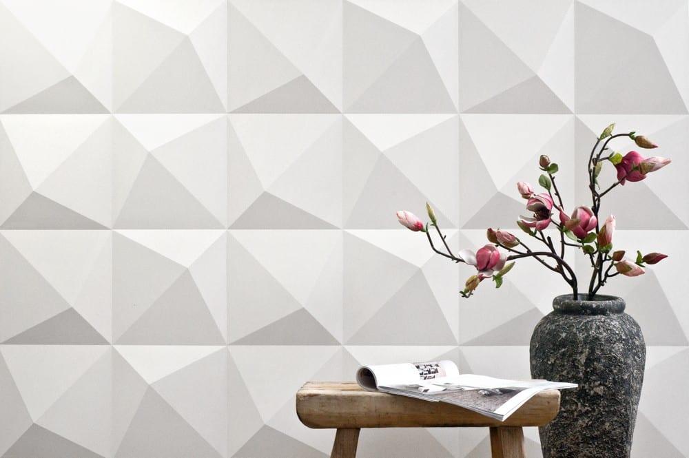 kreative und schicke wandgestaltung mit 3D wandpaneelen in weiß