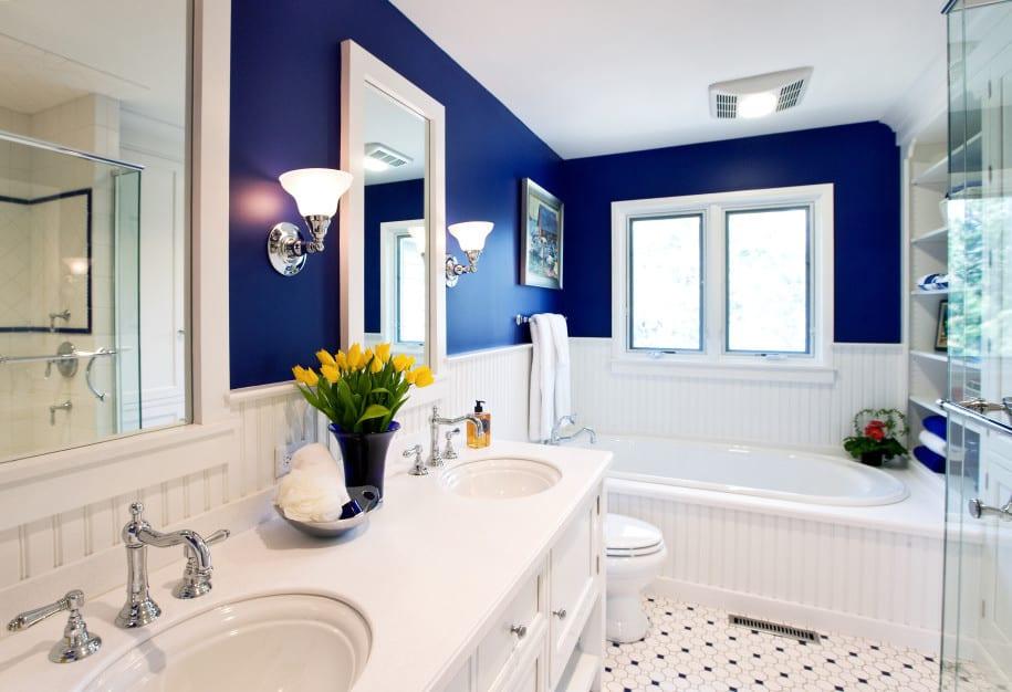 badezimmer streichen in blau-badezimmer weiß