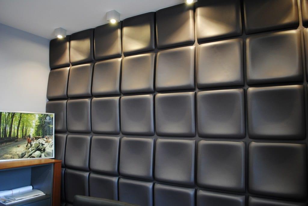 wandfarbe schwarz - moderne wandgestaltung mit 3d Wandpaneelen