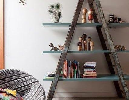Wohnzimmer Beispiele Fr Dekorieren Mit DIY Regal Rustikal