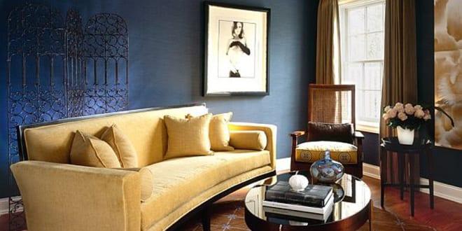wohnzimmer farbgestaltung mit wandfarbe blau zimmer. Black Bedroom Furniture Sets. Home Design Ideas