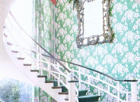 Zimmergestaltung  zimmergestaltung im barock mit farbgestaltung in grün und weiß ...