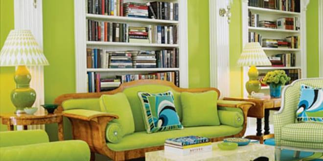 zimmergestaltung in grün mit traumteppich in blau und grün ... - Wohnzimmer Blau Grun