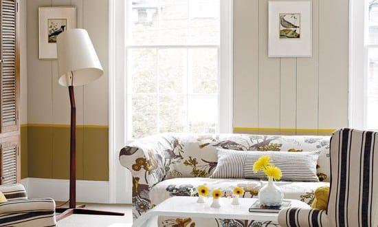 zimmergestaltung in weiß und gelb-coole wohnzimmer ...