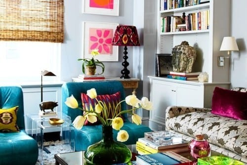 Mobile Raumteiler Wohnzimmer : Jewel Tone Colors Living Room
