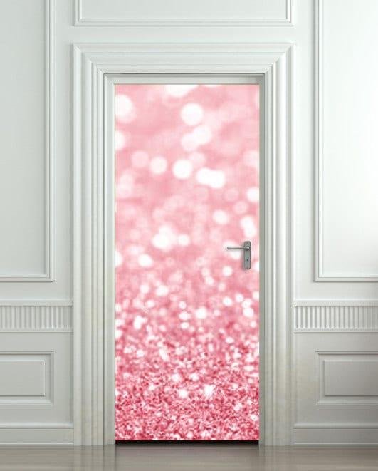 optische täuschung mit türtapete für die innentüren