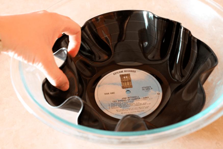 DIY Schale aus Schallplatten mit anweisung
