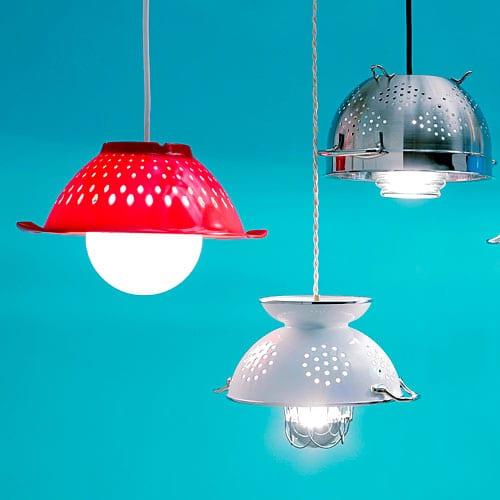 DIY Sieb Lampe
