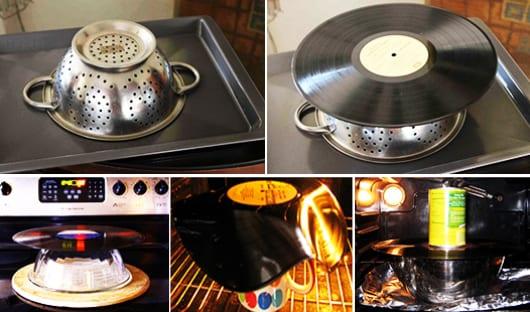 DIY Schale aus Schallplatten schritt für schritt