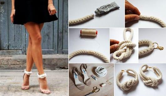 bastelidee für DIY schnalle für high heels