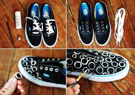 bastelideen zum verschönern von sneakers