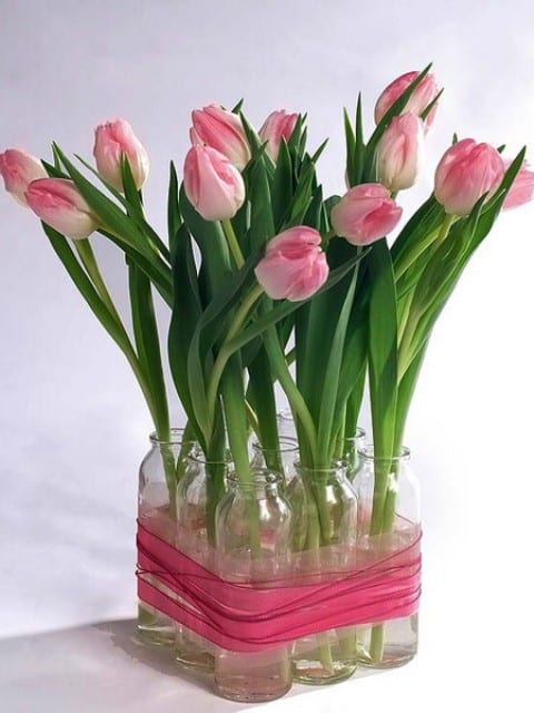 Tischdeko frühling selber basteln  Frühlingsdeko mit Frühlingsblumen - fresHouse