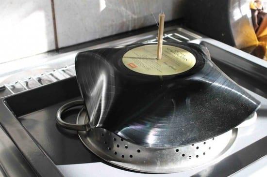 coole Bastelidee für DIY Schale und DIY Lampenschirm aus Schallplatten