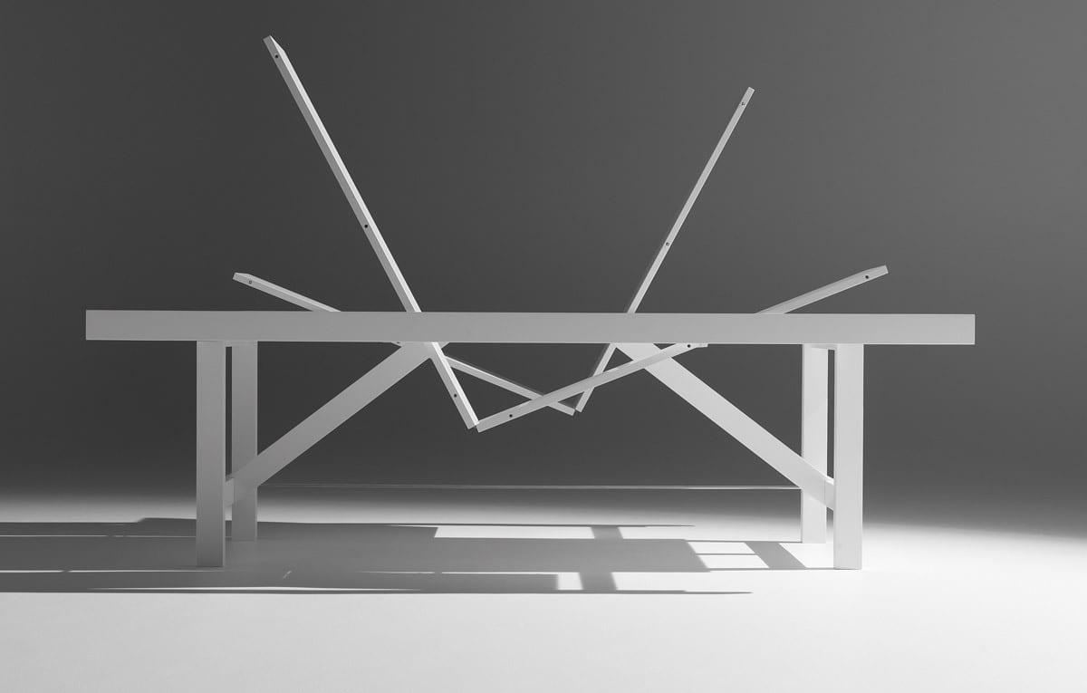 moderner Klapptisch weiß für moderne Esszimmer Einrichtung