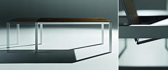 luxus inneneinrichtung mit modernem Esstisch ausziehbar