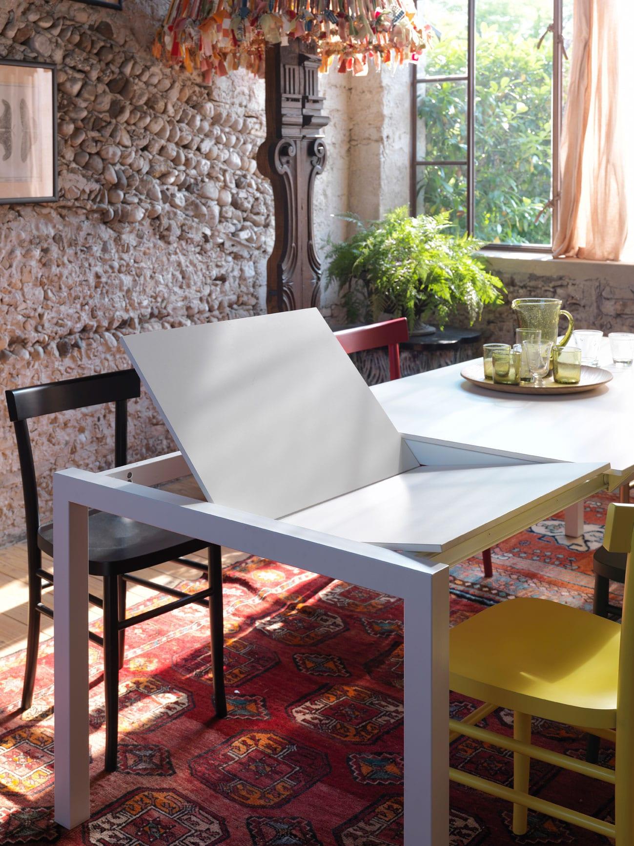 luxus wohnzimmer Inspirationen mit modernem Klapptisch weiß