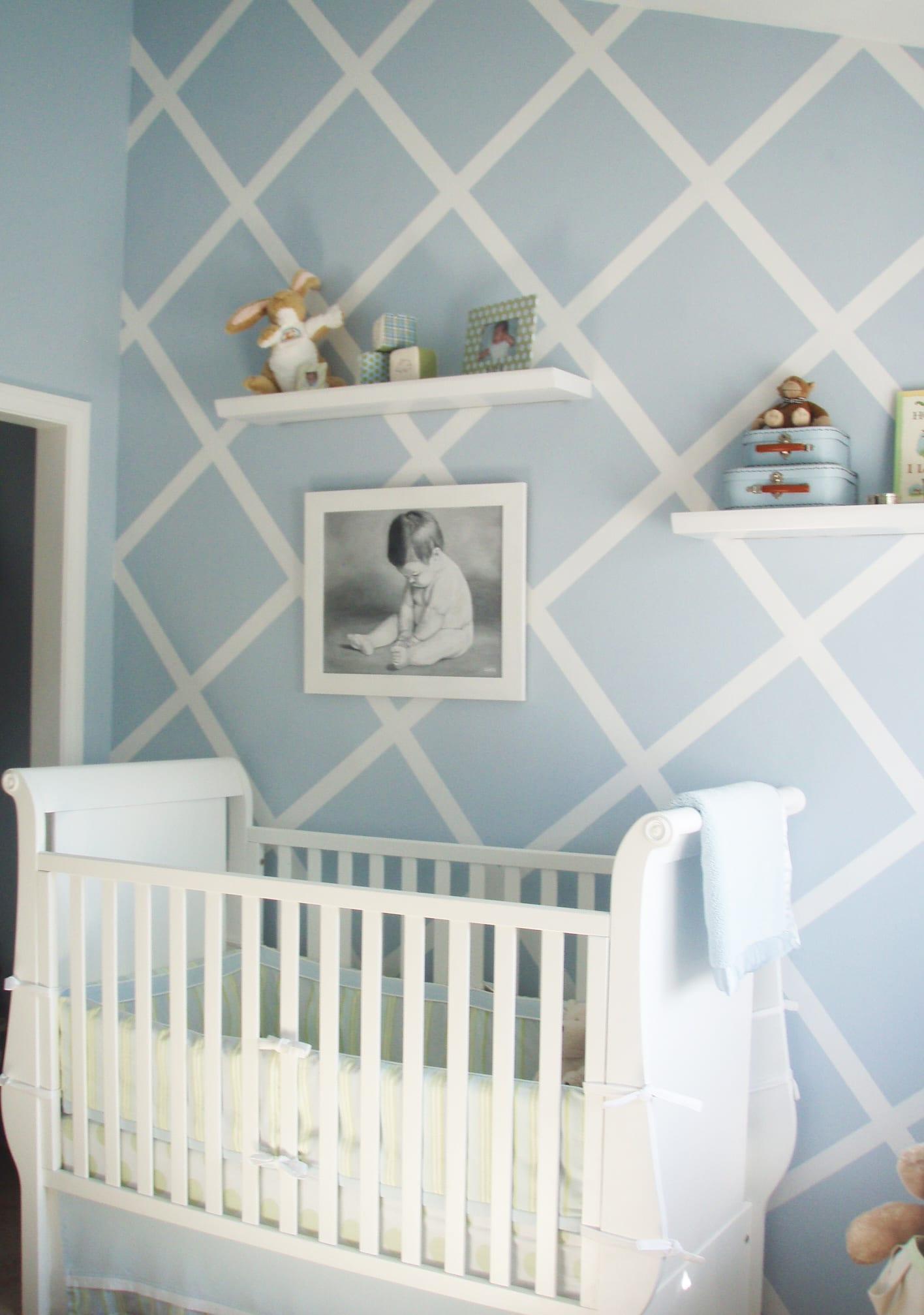 DIY Wand Streichen Muster fürs Babyzimmer