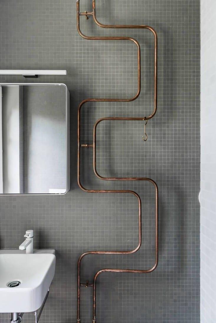 badezimmer rustikal mit badezimmer mosaik in grau