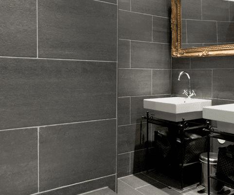 natursteinfliesen ideen badezimmer