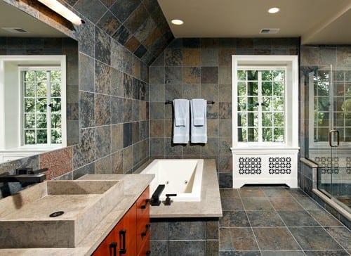 luxus badezimmer naturstein mit waschtischplatte aus naturstein