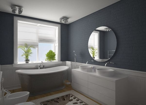 Badezimmer grau 50 ideen f r badezimmergestaltung in for Bathroom ideas uk 2015