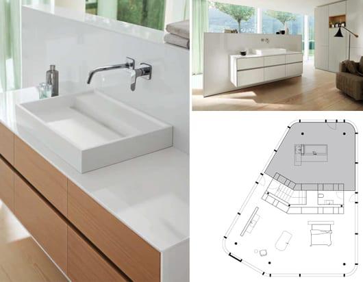 badezimmer beispiele für elegante Inneneinrichtung mit wandmodulen