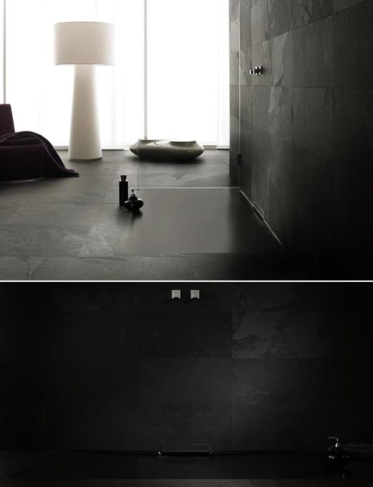 badezimmer trens in schwarz für badezimmer modernisieren mit farbigen bodengleichen duschen