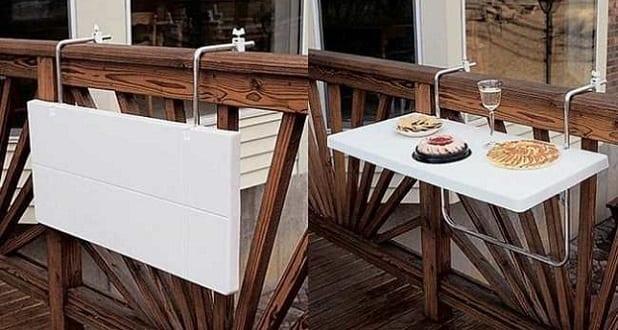 Balkon Idee Mit Klapptisch Weiß Freshouse