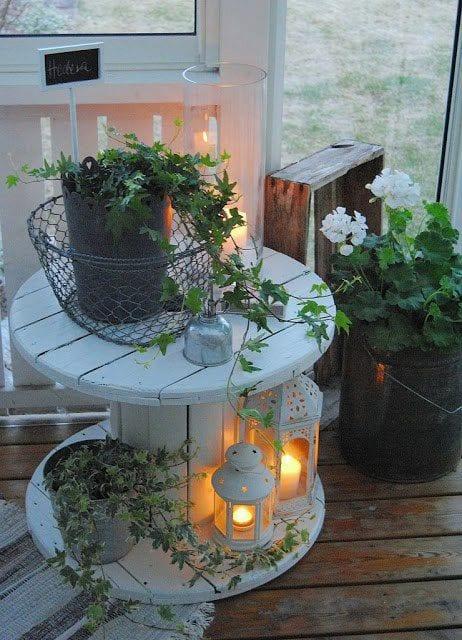 kleiner wintergarten auf dem balkon