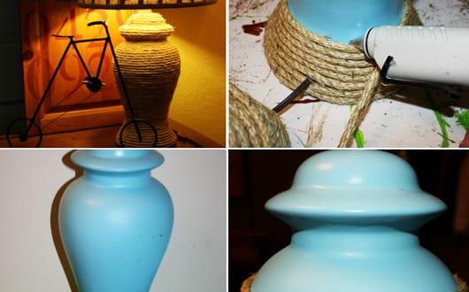bastelidee f r diy lampe mit seile freshouse. Black Bedroom Furniture Sets. Home Design Ideas