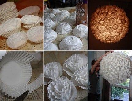 lampe selber bauel aus papier backformen für muffins