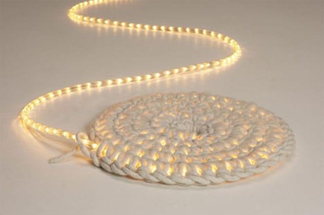 DIY lampe mit LED schlauch und Seile