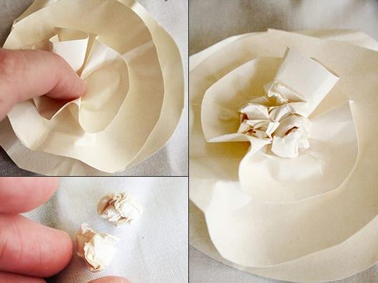 DIY Kranz mit Blumen aus Papier