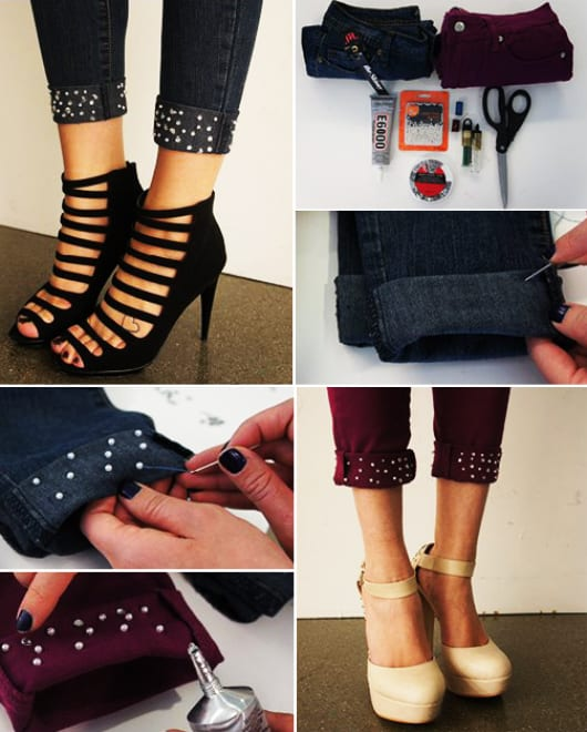 jeans sau dekorieren