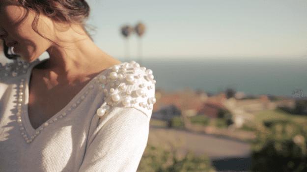 pullover mit perlen gestalten