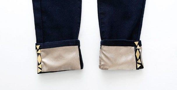 bastelideen mit dekosteinen für jeans sau