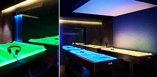entspannende Wassebetten mit LED Beleuchtung