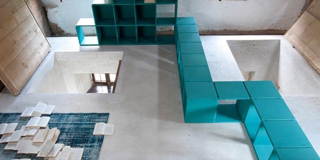 modulare, farbige und funktionale Inneneinrichtung