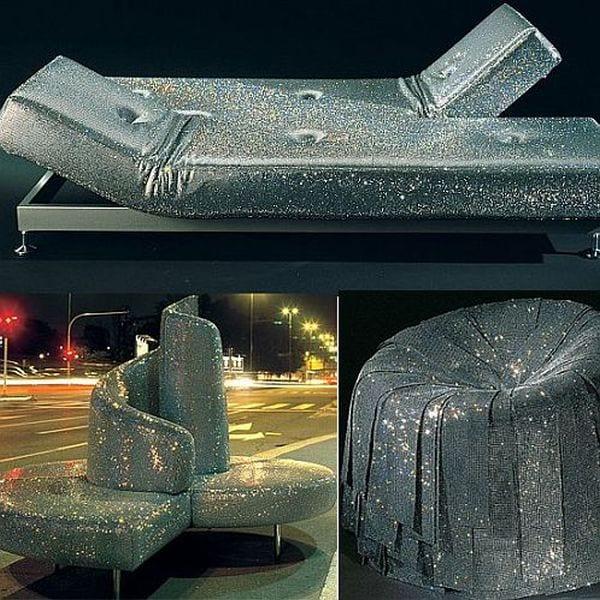 brillante gestaltung mit polstermöbel und Swarovski Kristallen