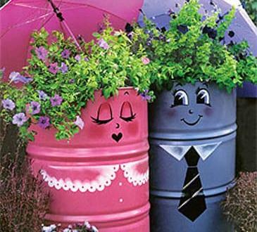 bunte gartengestaltung mit gartendeko selber machen in lila und ... - Gartendeko Selber Bauen