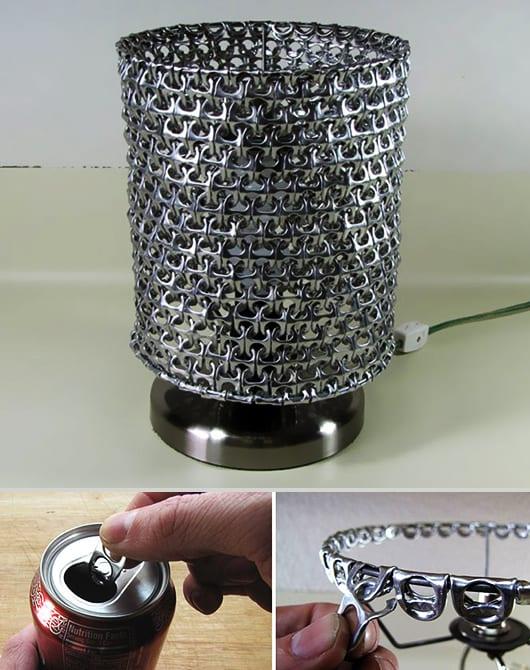 recycle ideen für DIY Nachttischlampe