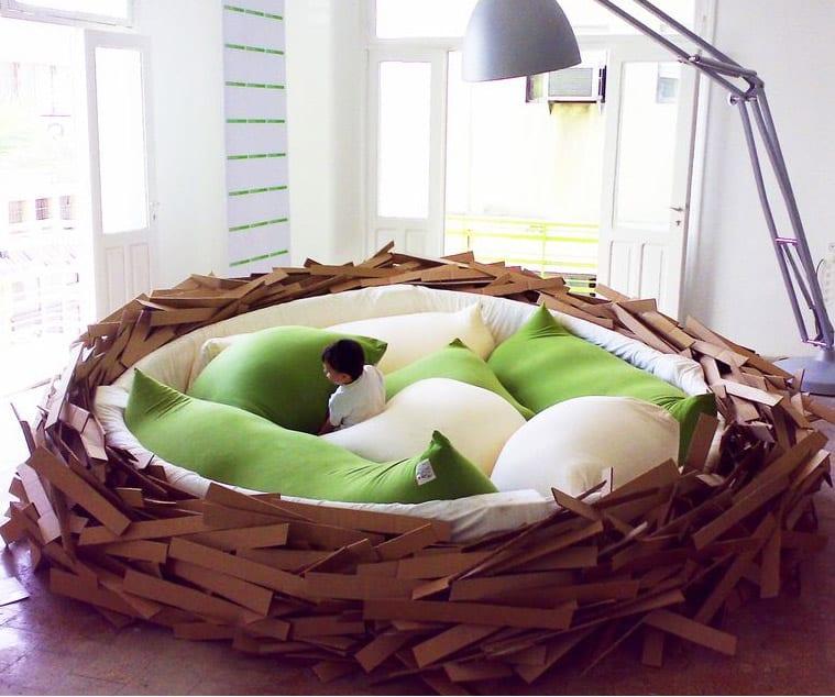 wohnideen kinderzimmer mit spielraum in einer nestform
