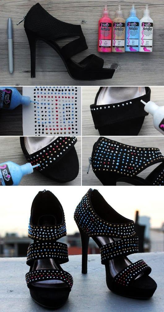 textilfarben für kreative Gestaltung von schuhen